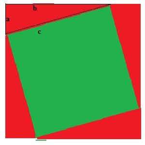 Square used to prove Pythagoras theorem