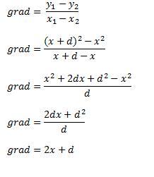 grad=2x+d